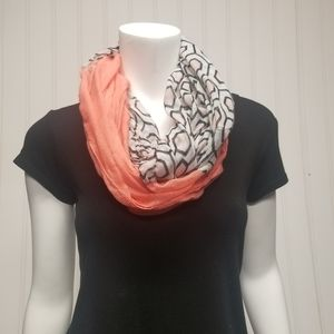 Accessories - Infinity scarf - coral pink/geometric print